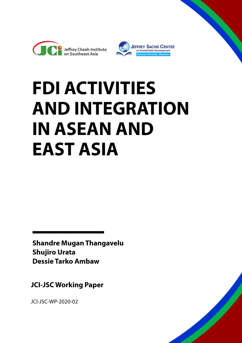 Report Cover: FDI Activities and Integration in ASEAN and East Asia